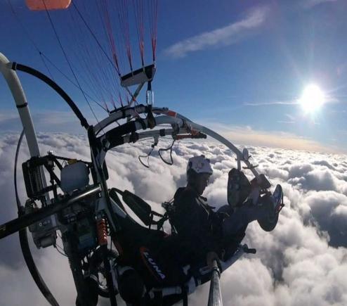 双人轮式动力伞